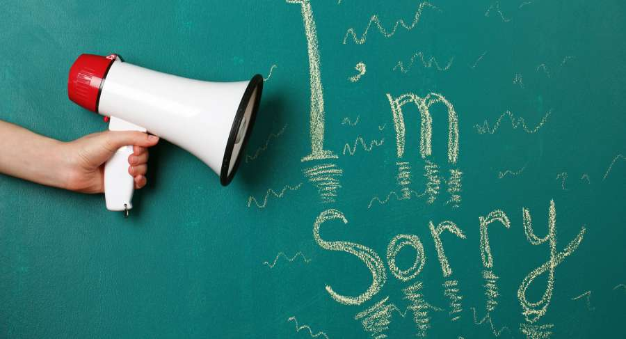 SORRY: A simple word that is hard to say