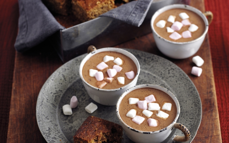 Sticky Parkin with Marshmallow Hot Chocolate