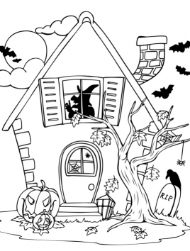 halloween coloring 3,