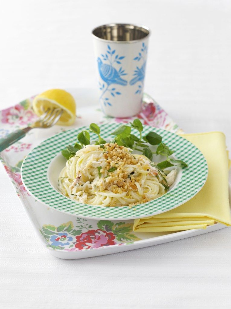 Linguine with crab and mint - RECEPT