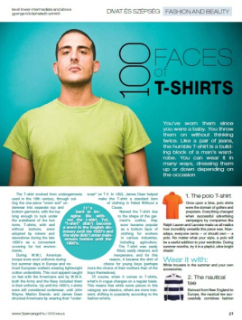 100 faces of T-shirt