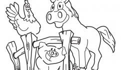 Farm animals - Colouring pages