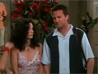 Friends - Monica's funny hair