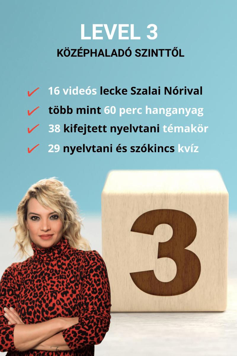 5 PERC ANGOL LEVEL 3 – videókurzus